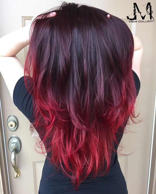 Bright Hair Color Ideas Purple Red