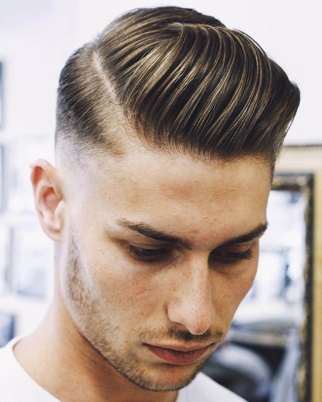 slick back haircut men
