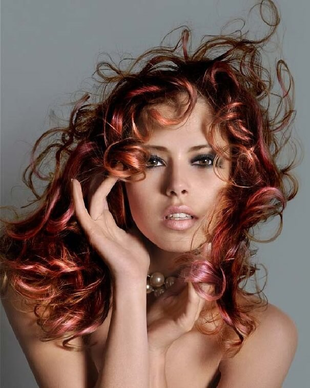 best color for curly hair