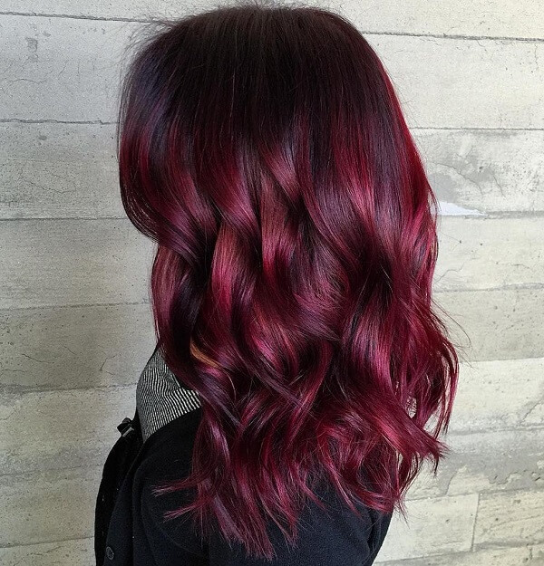 Bright Hair Color Ideas Red Purple