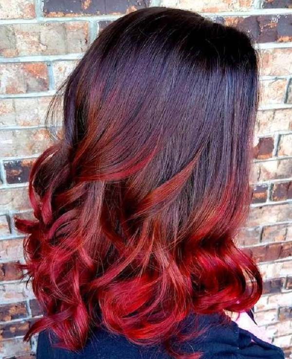 bright hair color ideas red