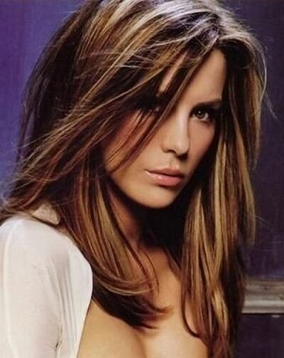 brown hair with honey brown highlights