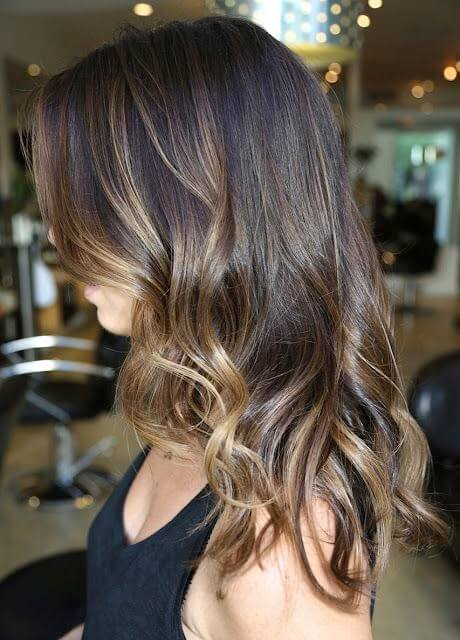 coffee brown with ombre highlights