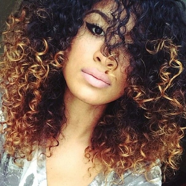 Ombre Hair Coloring Ideas For Natural Hair Curly Hair: Hair Color Ideas For Curly Hair As The Amazing Curly