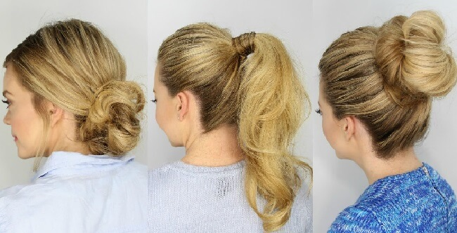 5 Minute Hairstyles for Medium Hair