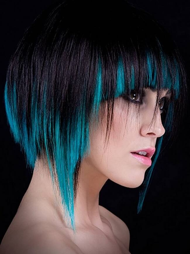 funky hair color ideas for short hair
