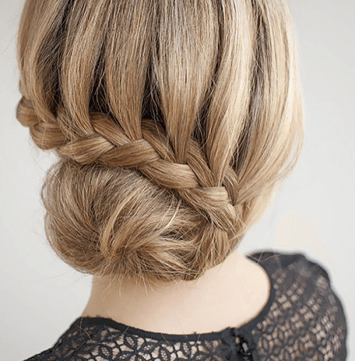 hairstyles bun for long hair