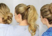 5 Minute Hairstyles for Medium Hair
