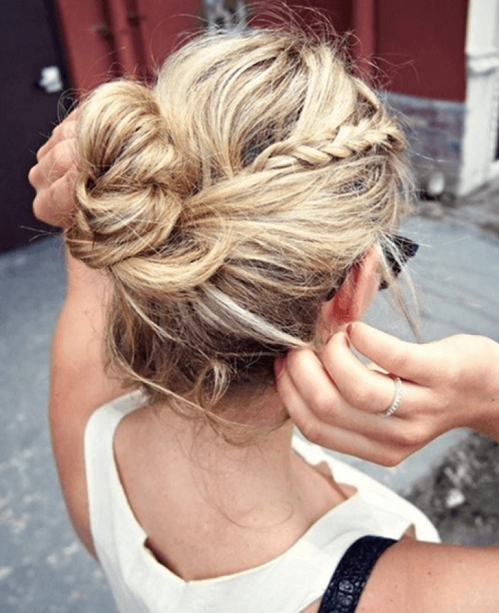 Permalink to Hairstyles Bun Ideas, Simple and Easy