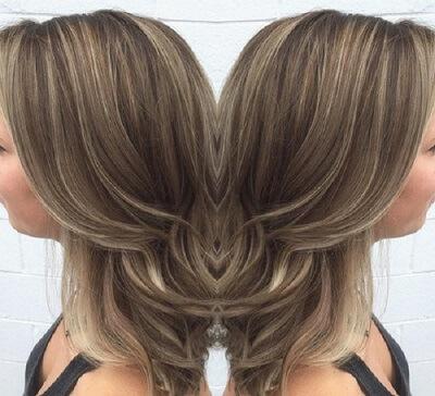 light ash blonde on brown hair