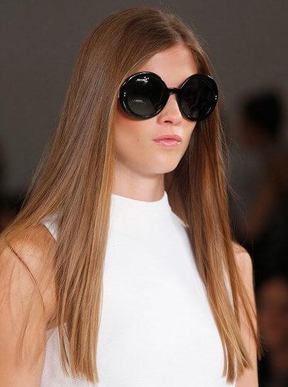long silky straight hair style