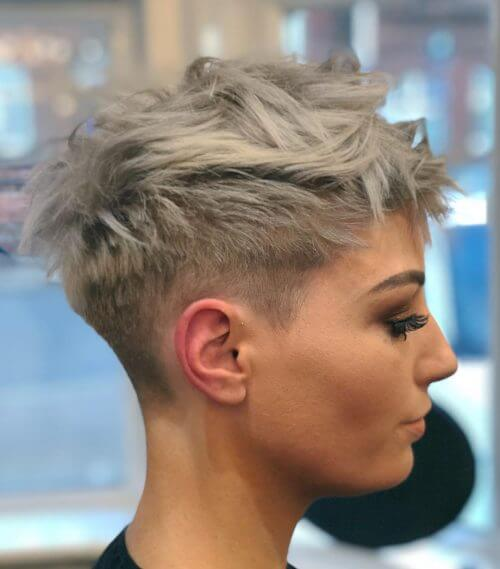 short hairstyles for thick grey hair