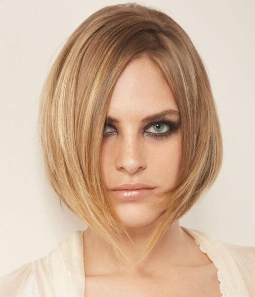 short straight layered hairstyle