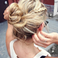 simple hairstyles bun ideas