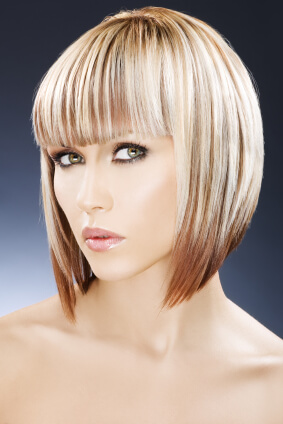 two tone hair color short hairstyles
